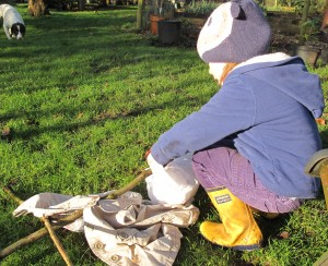 making a scarecrow gardening blog