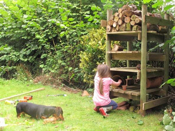 insect hotel, cottage garden, gardening blog